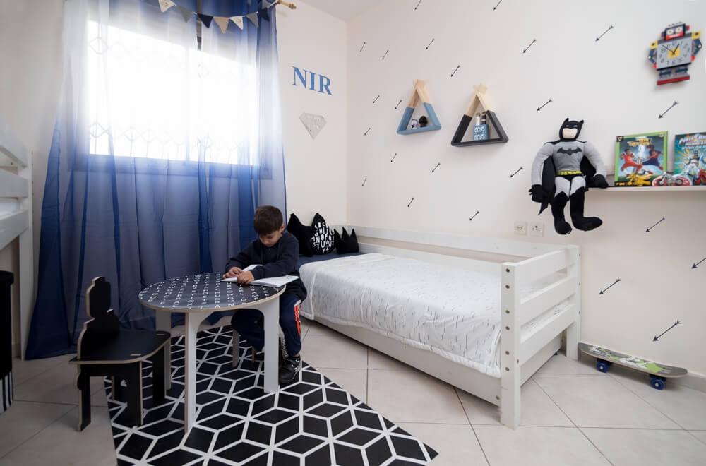 עיצוב חדר ילדים משותף לשני בנים