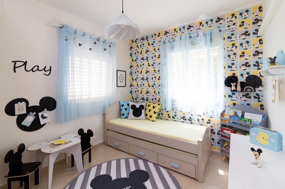 עיצוב חדר ילדים בקונספט מיקימאוס