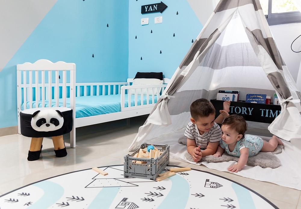 עיצוב חדר משותף לשני בנים