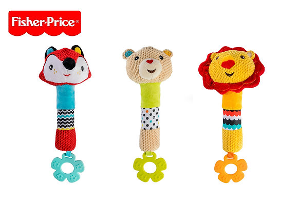 Squeaking Rattle with Teether