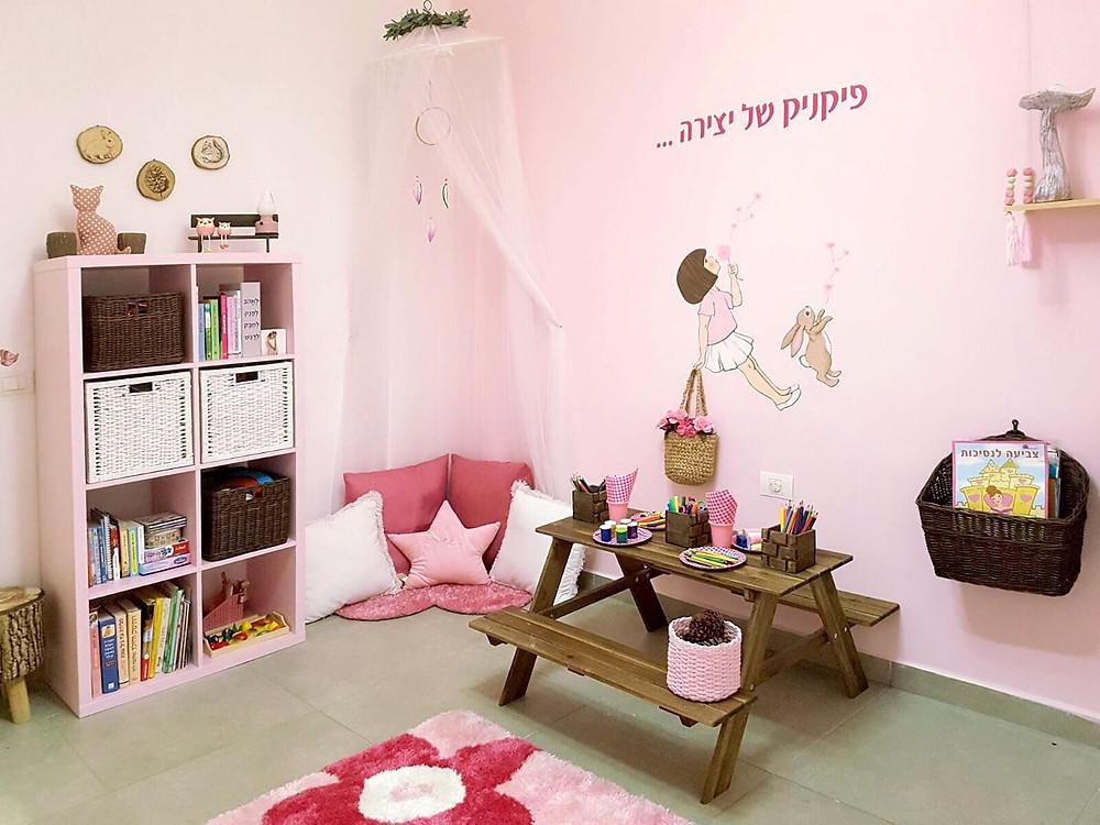 עיצוב חדר משחקים בקונספט יער קסום