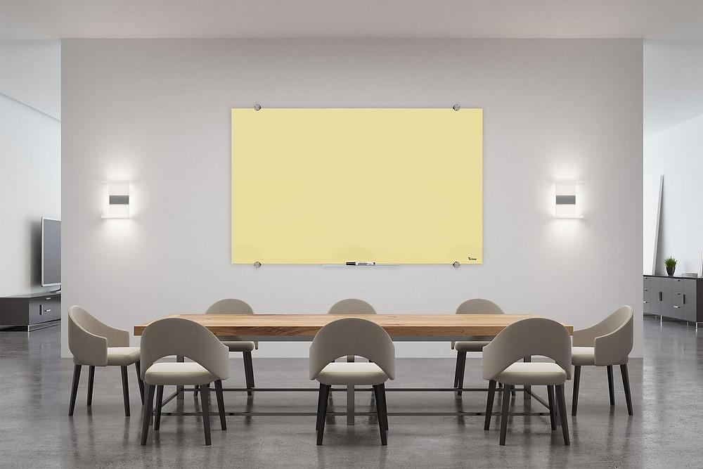 לוח מחיק מזכוכית לוח מגנטי מעוצב לחדר ישיבות ולעבודה מהבית