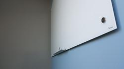 Bclear  הקתנה נסתרת לוחות מגנטי מזכוכית