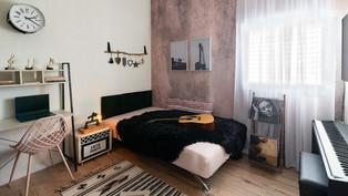 עיצוב חדר לנערה בקונספט מוסיקה