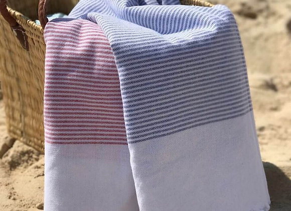 Stripy מגבת חוף טורקית