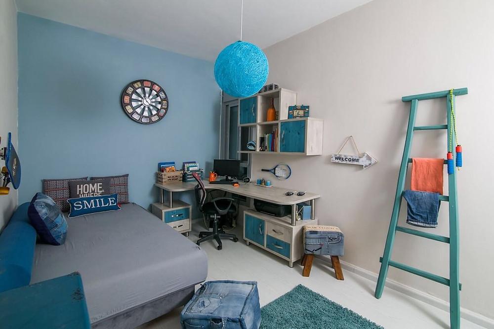 חדר ילדים בסגנון ספורטיבי