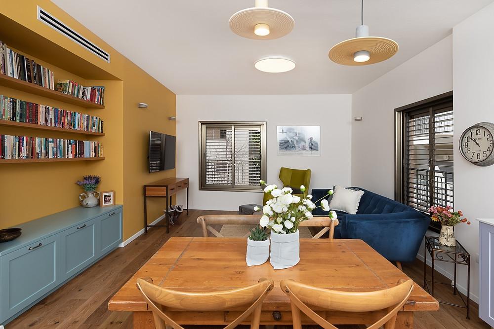 דירה צבעונית בלב תל אביב