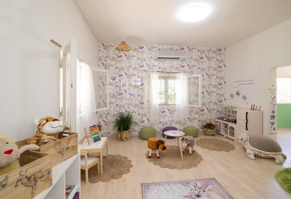 עיצוב גן ומרכז מונטסורי לגיל הרך