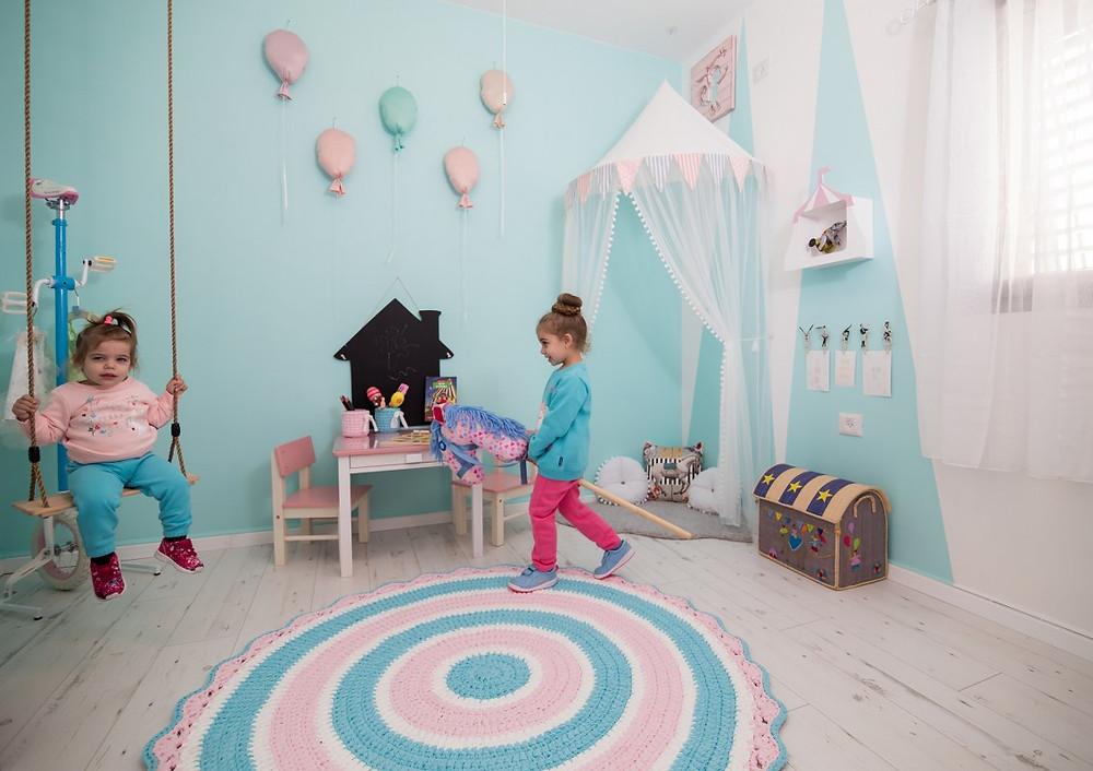 חדר משחקים מעוצב בקונספט קרקס