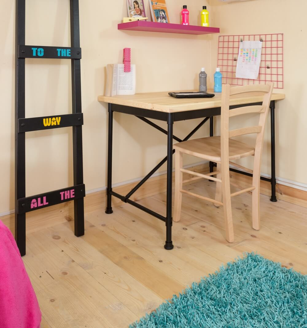 חדר מעוצב לנערה בסגנון בוהו שיק