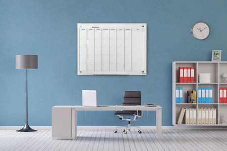 לוח תכנון חודשי של ביקליר, לוח זכוכית ולוח מגנטי לתכנון חושי