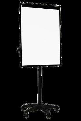 לוח מחיק מגנטי נייד על גלגלים - פליפ צ'ארט