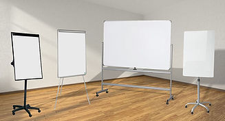 לוח מגנטי נייד עם רגליים או גלגלים