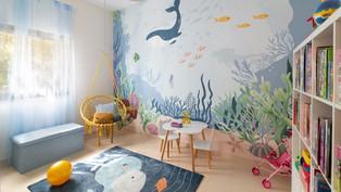 חדר משחקים מעוצב בקונספט ים