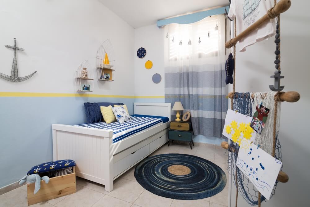 חדר ילדים מעוצב בקונספט ספנות