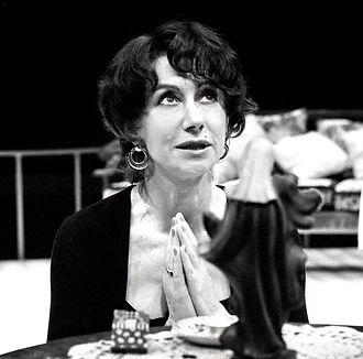 PLEASE, WE'RE ITALIAN by Kempinski ; Helen Mirren as Rosetta Borsi ; Directed by Thacker ; Young Vic, London, UK ; 1991 ; Credit : Sheila Burnett