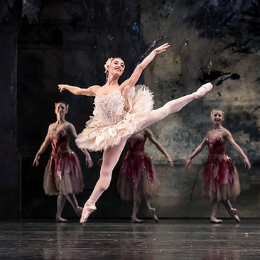 THE NUTCRACKER by Tchaikovsky ; Beatrice Parma as The Rose Fairy;  Corps de ballet ; Produced and choreographed by Peter Wright ;  Designed by John Macfarlane ;  Birmingham Royal Ballet, UK ; 24 November 2017 ; Credit: Bill Cooper
