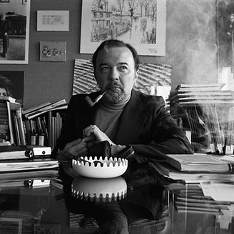 PETER HALL; Born 1939; Theatre and film director; National Theatre, London, UK; March 1978; In his office at the National Theatre; Credit: Nobby Clark