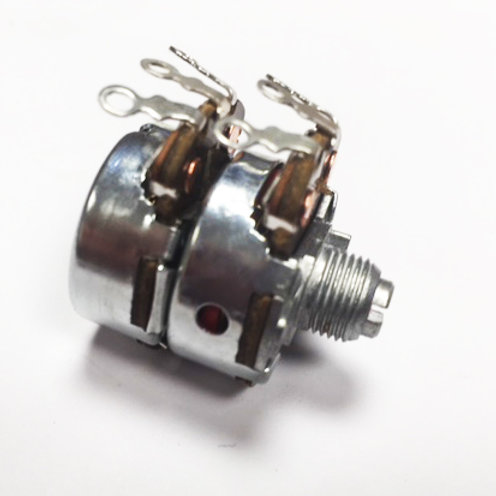 "2-45 Dual Gang 100R 1/4""x1/4"" Slotted Shaft potentiometer"
