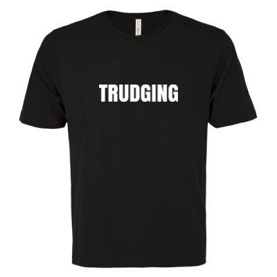 TRUDGING Logo - Unisex T-Shirt - Black - Sober Clothing