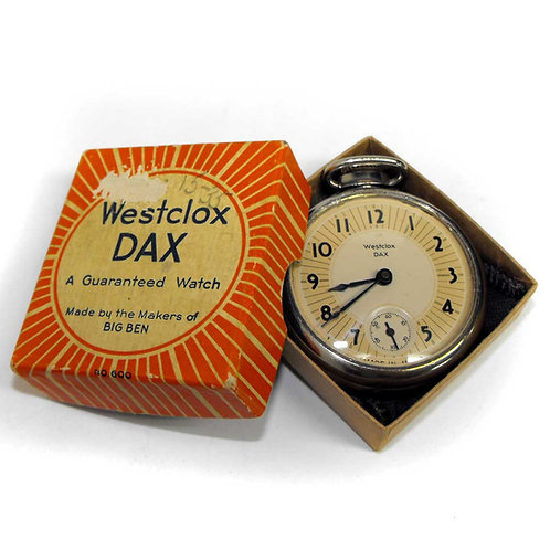 1934 Westclox Dax Pocket Watch