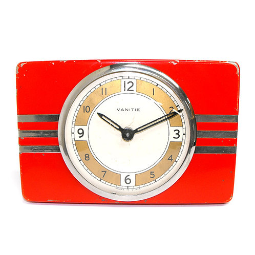 Vintage Art Deco 1936 Waterbury Alarm Clock