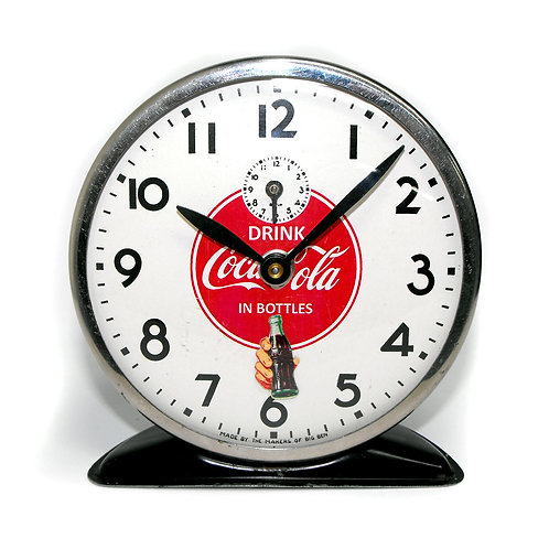 1936 Animated Drink Coca-Cola in Bottles Alarm Clock