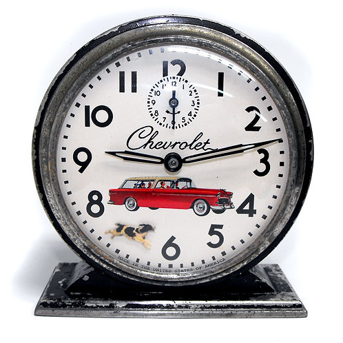 1936 Westclox Big Ben with Animated Border Collie Chevy