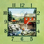 Lux Grist Mill Clock