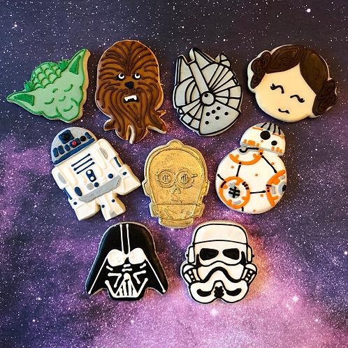 1 Dozen Star Wars Themed Cookies