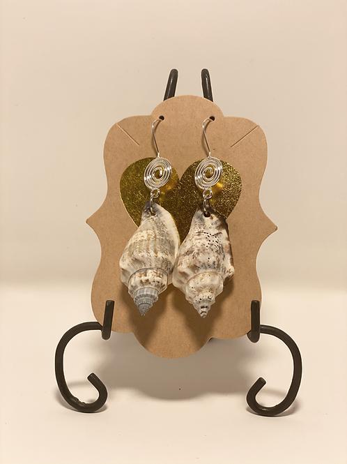 Silver Conch Earrings