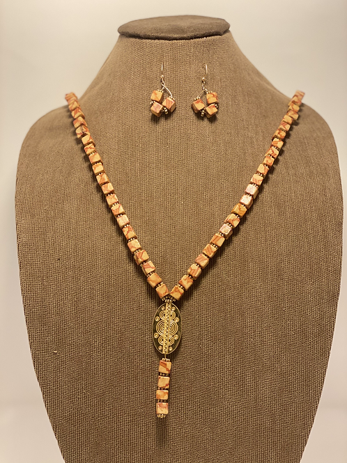 Gold Plated and Wood Beads Sourced from PR Set