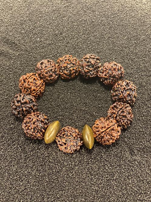 Nut and Wood Men's Bracelet
