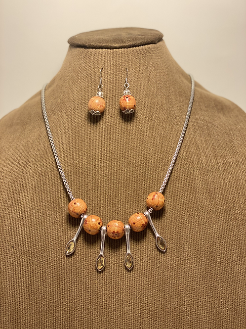 Wood Beads sourced from PR and Amber Silver Spoon Set