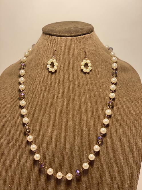 Pearl and Multi Crystal Set
