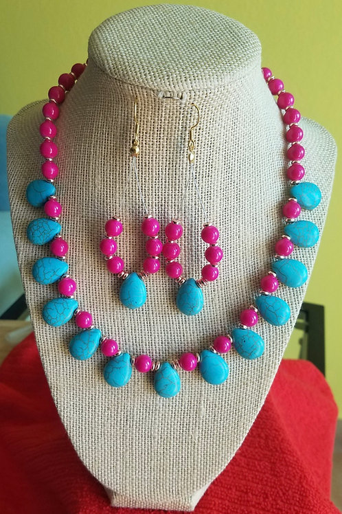 Red Delight Turquoise Howlite Set