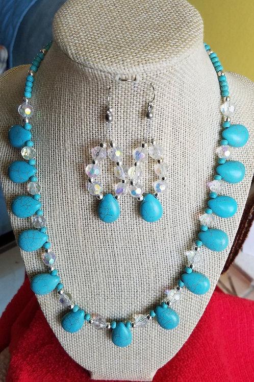 Turquoise Howlite Set