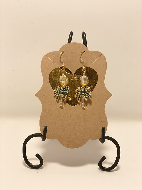 Gold Filled Palm Earrings