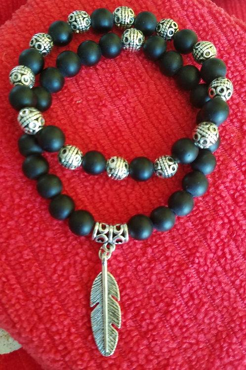 Ebony and Silver 2 for $15 Bracelets