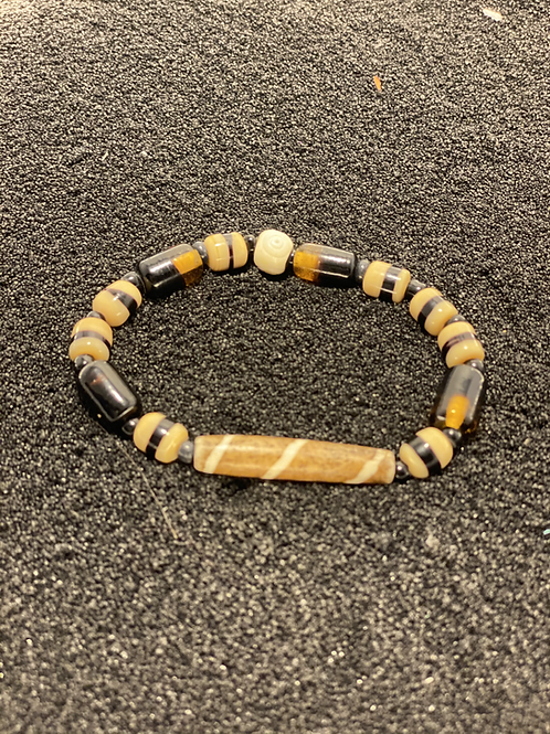Brown and Bone Multi Bracelet