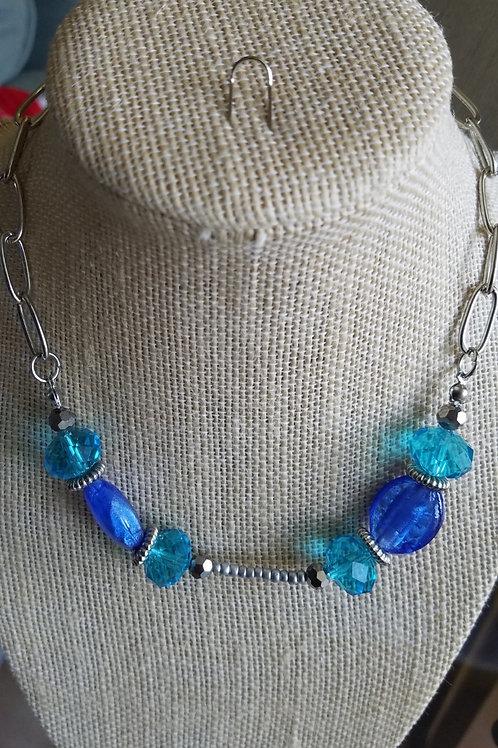 Crystal Blue Choker