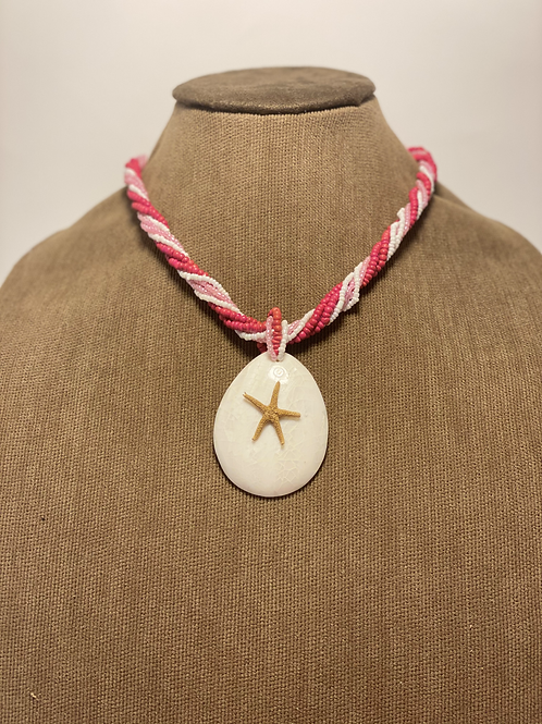 Beaded Natural Star Fish Necklace