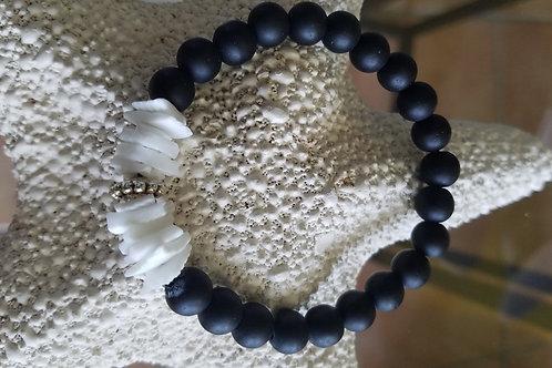 Ebony and Shell Bracelet