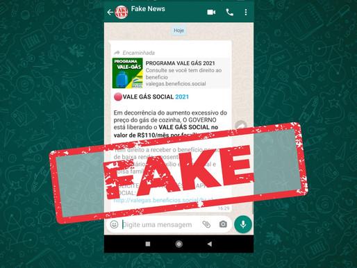 Vale Gás de R$ 110 é Fake News