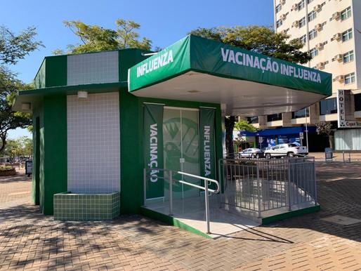 Cascavel vacina contra a gripe neste sábado (7/8) no quiosque do Centro
