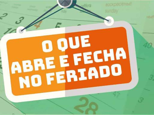 Abre e fecha: Confira o funcionamento dos serviços no feriado da Independência