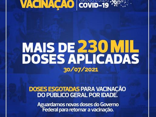 Cascavel zera estoque de vacinas contra a Covid-19 para 31 anos