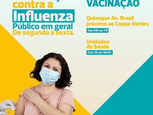 Atualização: Vacinação contra gripe continua nas UBSs e no quiosque do Centro