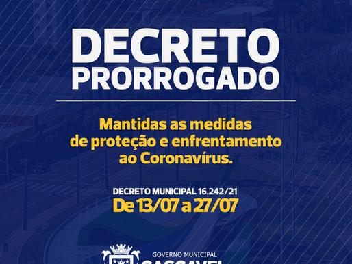 COVID-19: Decreto de combate ao coronavírus é prorrogado