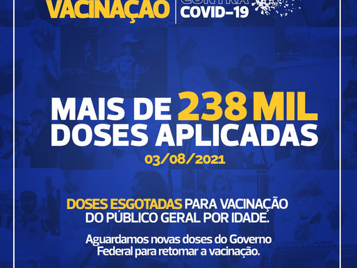 Cascavel aplica mais de 238 mil doses de vacinas contra a Covid-19